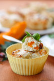 Cheese muffins with pumpkin Royalty Free Stock Images