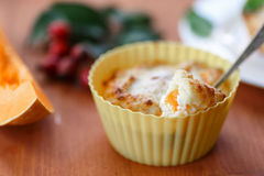 Cheese muffins with pumpkin Stock Photo