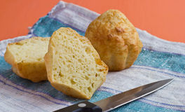 Cheese muffins with texture Royalty Free Stock Image