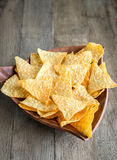 Cheese nachos in the bowl Royalty Free Stock Images
