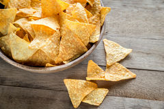 Cheese nachos in the bowl Royalty Free Stock Photo