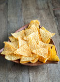 Cheese nachos in the bowl Royalty Free Stock Image