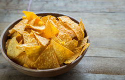 Cheese nachos in the bowl Royalty Free Stock Photography