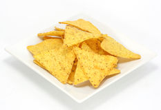 Cheese nachos, chips Stock Images