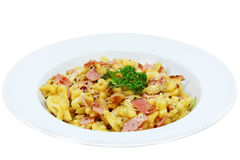 Cheese noodles. Chesse noodles / chesse spaetzle (specialty from Baden-Wuerttemberg / Germany Royalty Free Stock Image