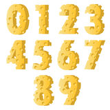 Cheese numbers Stock Image