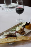 Cheese and nut appetizer Royalty Free Stock Photography
