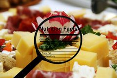 Cheese and nutrition facts Royalty Free Stock Photography