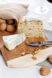 Cheese and nuts Royalty Free Stock Photography