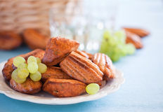 Cheese oat bran madeleines Stock Image