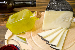 Cheese & oil. Stock Images