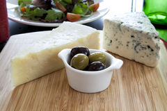 Cheese and Olive Appetizer Stock Image