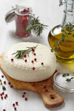 Cheese with olive oil Stock Photography