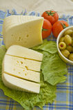 Cheese and olives Royalty Free Stock Image