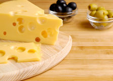 Cheese and olives Royalty Free Stock Images