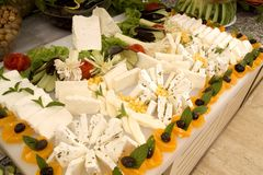 Cheese and olives Royalty Free Stock Photography