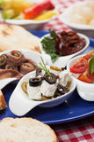 Cheese and olives appetizer Stock Photography