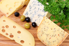 Cheese with olives Royalty Free Stock Photo