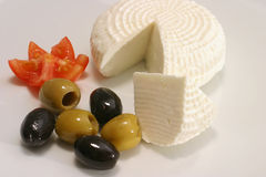 Cheese olives and tomato Royalty Free Stock Photos