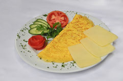 Cheese omelette Royalty Free Stock Images