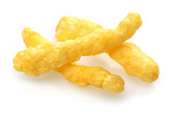 Cheese and onion flavored corn chips Royalty Free Stock Photo