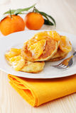 Cheese pancakes royalty free stock photography