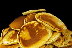 Cheese pancakes. Just done cheese pancakes on the plate Stock Photos