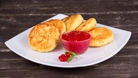 Cheese pancakes Stock Photos