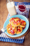 Cheese pancakes Stock Images