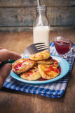 Cheese pancakes Royalty Free Stock Images