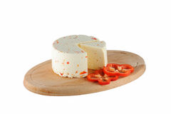 Cheese with paprika Stock Image