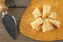 Cheese parmigiano still life Royalty Free Stock Images