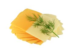 Cheese and parsley Royalty Free Stock Photos