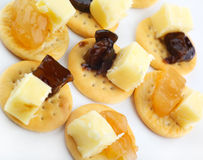 Cheese party snacks Stock Images