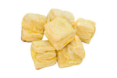 Cheese pastry. On white background Stock Images