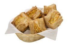 Cheese pastry basket Stock Photography