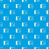 Cheese pattern seamless blue Royalty Free Stock Photos