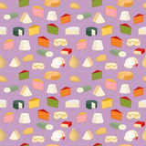Cheese pattern vector illustration. Seamless pattern with cheese and holes. Cheddar milk edam breakfast background design. Taste element drawing food gourmet Royalty Free Stock Image