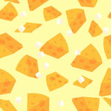 Cheese pattern Royalty Free Stock Images