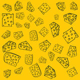 Cheese pattern Royalty Free Stock Photos