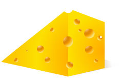 Cheese peace Stock Image