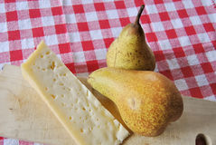 Cheese with pears Stock Image