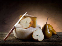Cheese and pears Royalty Free Stock Photos