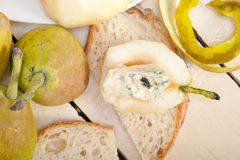 Cheese and pears Royalty Free Stock Image