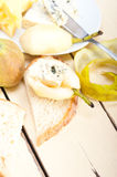 Cheese and pears Stock Images