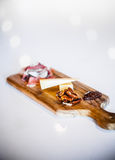 Cheese, Pecans and Prosciutto Platter Royalty Free Stock Photos