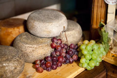 Cheese Pecorino of Pienza Stock Photos