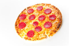 Cheese and pepperoni pizza Royalty Free Stock Photos