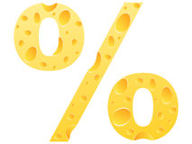 Cheese percent icon Royalty Free Stock Image