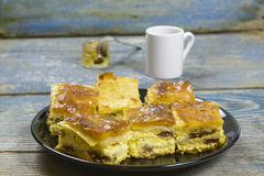 Cheese pie and coffee Stock Photography
